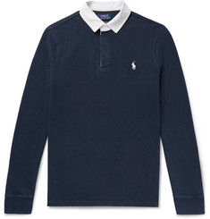 Polo Ralph Lauren Contrast-Trimmed Loopback Cotton-Jersey Polo Shirt