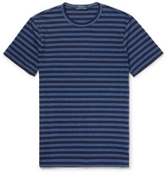 Polo Ralph Lauren Mélange Striped Cotton-Blend Jersey T-Shirt