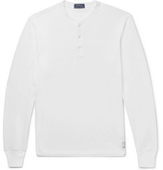 Polo Ralph Lauren Cotton-Blend Jersey Henley T-Shirt