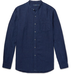 Polo Ralph Lauren Grandad-Collar Striped Linen Shirt