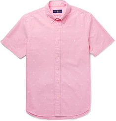 Polo Ralph Lauren - Slim-Fit Button-Down Collar Embroidered Cotton Oxford Shirt