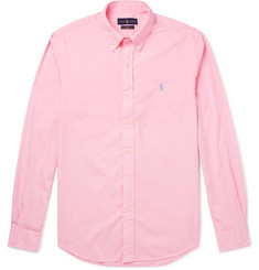 Polo Ralph Lauren - Slim-Fit Garment-Dyed Button-Down Collar Cotton-Twill Shirt