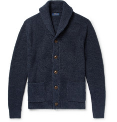 Polo Ralph Lauren - Shawl-Collar Mélange Cotton and Linen-Blend Cardigan