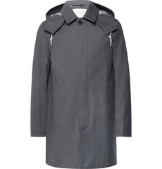 Mackintosh Dunoon Bonded-Wool Hooded Raincoat