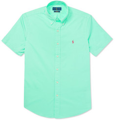 Polo Ralph Lauren Slim-Fit Garment-Dyed Button-Down Collar Cotton-Twill Shirt