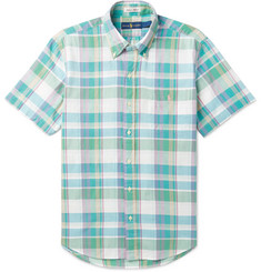 Polo Ralph Lauren Button-Down Collar Checked Cotton-Blend Shirt