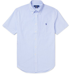 Polo Ralph Lauren - Slim-Fit Button-Down Collar Striped Cotton-Seersucker Shirt