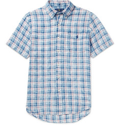 Polo Ralph Lauren - Button-Down Collar Checked Linen Shirt