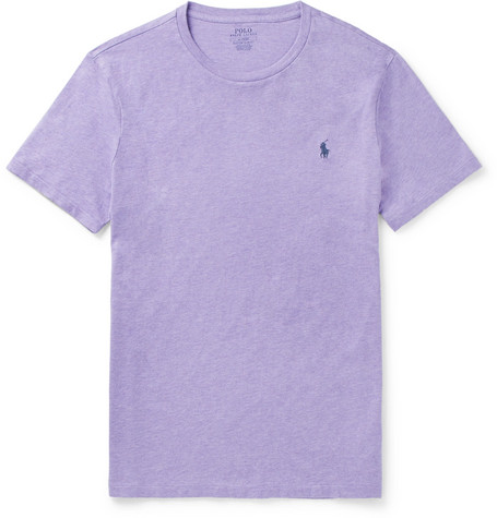 Slim Fit Mélange Cotton Jersey T Shirt by Polo Ralph Lauren