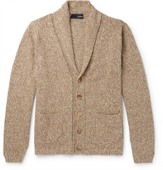 Lardini Shawl-Collar Mélange Knitted Cardigan