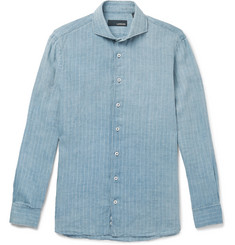 Lardini Striped Linen Shirt