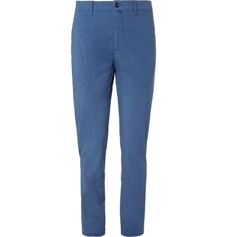 LARDINI Paris Stretch-cotton Poplin Trousers - Light blue 7dh5Z8Lu