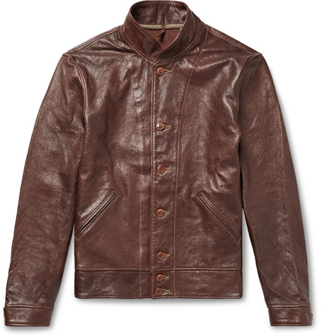 Levi S Menlo Leather Cossack Jacket In Brown Modesens