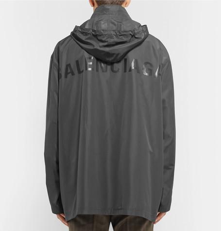 Balenciaga Hooded Faille By Jacket Shoptagr Printed AqfZTZ