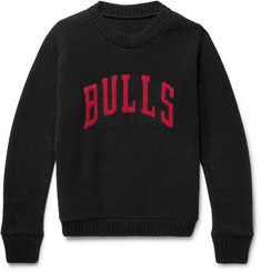 The Elder Statesman + NBA Chicago Bulls Intarsia Cashmere Sweater