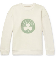 The Elder Statesman - + NBA Boston Celtics Printed Brushed-Cashmere-Blend Sweatshirt