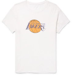 The Elder Statesman - + NBA Los Angeles Lakers Printed Cashmere and Silk-Blend T-Shirt