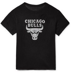 The Elder Statesman - + NBA Chicago Bulls Printed Cashmere and Silk-Blend T-Shirt