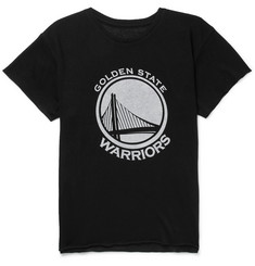 The Elder Statesman + NBA Golden State Warriors Printed Cashmere and Silk-Blend T-Shirt