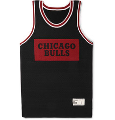 The Elder Statesman + NBA Chicago Bulls Intarsia Cashmere and Silk-Blend Tank Top