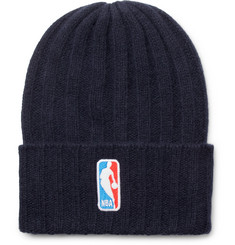 The Elder Statesman + NBA Bunny Echo Appliquéd Ribbed Cashmere Beanie