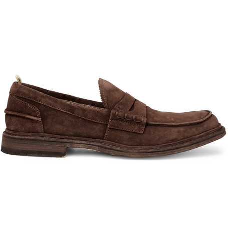 Officine Creative Warwick Suede Loafers In Brown