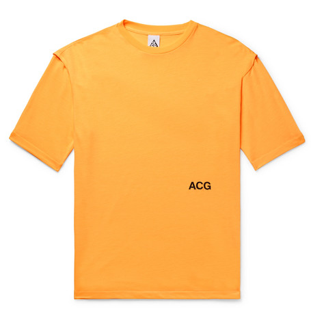 Nike Lab Acg Variable Printed Jersey T-shirt - Anthracite tb4ChKB