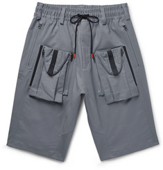 Nike NikeLab ACG Deploy Cargo Wide-Leg Stretch-Cotton Shorts