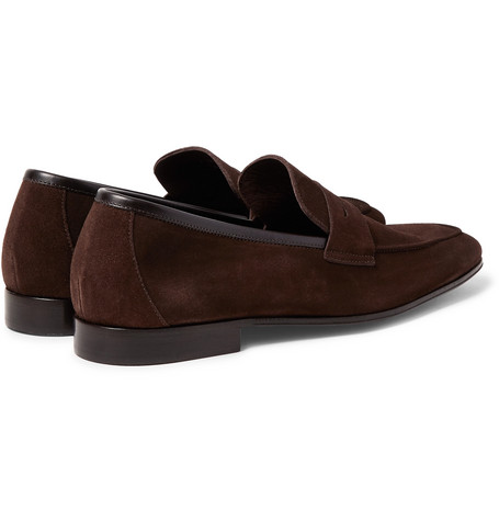Glynn Suede Penny Loafers - BrownPaul Smith ExHaLt