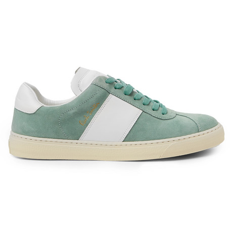 Levon Suede And Leather Sneakers - GreenPaul Smith KY2sCQ