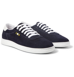 Aprix - Leather-Trimmed Suede Sneakers