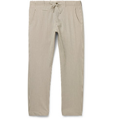 MAN 1924 Striped Stretch-Cotton Seersucker Drawstring Trousers