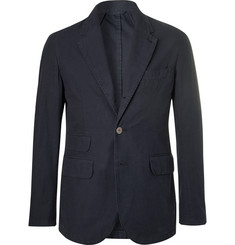 MAN 1924 Kennedy Navy Slim-Fit Unstructured Cotton Blazer