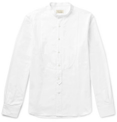 MAN 1924 Grandad-Collar Cotton Shirt