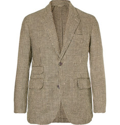 MAN 1924 Kennedy Slim-Fit Unstructured Prince of Wales Checked Linen Blazer