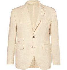 MAN 1924 Ecru Kennedy Slim-Fit Unstructured Linen-Hopsack Blazer
