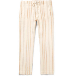 MAN 1924 Striped Linen Drawstring Trousers