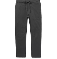 CMMN SWDN Stan Tapered Stretch-Cotton Seersucker Drawstring Trousers
