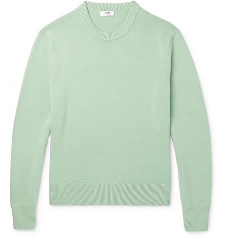 CMMN SWDN Colby Cotton Sweater - Green F8YI63U