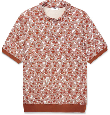 Arn Printed Knitted Polo Shirt - Red