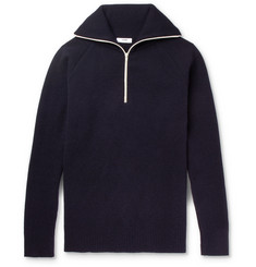 CMMN SWDN Jock Wool-Blend Half-Zip Sweater