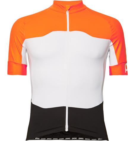 POC Avip Ceramic Colour-Block Cycling Jersey - Orange