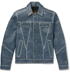 Tod's City Denim-Effect Leather Jacket