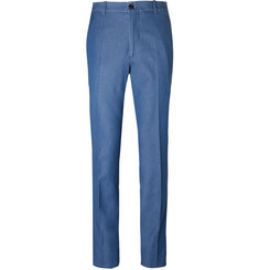 Tod's Blue Washed-Denim Trousers
