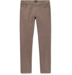 Tod's - Slim-Fit Stretch-Cotton Twill Trousers
