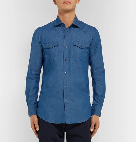 Cotton Chambray Shirt by Tod's