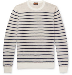 Tod's - Striped Cotton and Linen-Blend Sweater