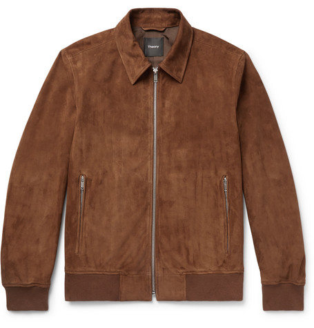 Noland Suede Blouson Jacket by Theory