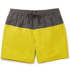 Theory Cosmos Mid-Length Colour-Block Stretch-Shell Swim Shorts