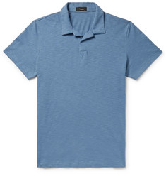 Theory Willem Slub Cotton-Jersey Polo Shirt